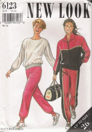 Misses' Jacket Top Pants Sewing Pattern Size 14-26 Simplicity New Look 6123 UNCUT