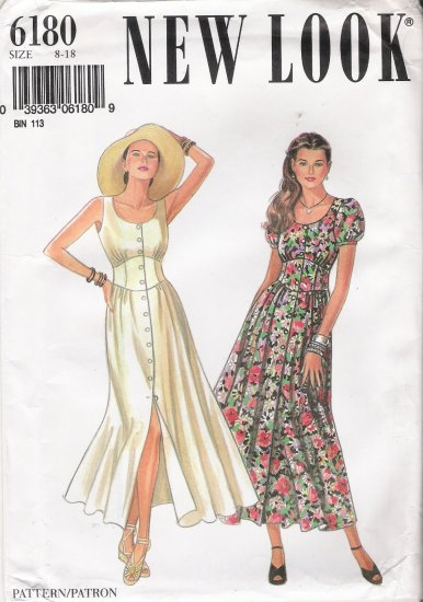 Misses' Dress Sewing Pattern Size 8-18 Simplicity New Look 6180 UNCUT