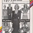 Vintage Sewing Pattern Hip Yoke Dress, Skirt, Blouse Bust Sizes 30-46 Stretch & Sew 1577 UNCUT