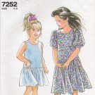 Children's Dress Sewing Pattern Size 4-8 Simplicity 7252 UNCUT