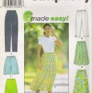 Misses' Pants Shorts Skirt Sewing Pattern Size XS-M Simplicity 7655 UNCUT