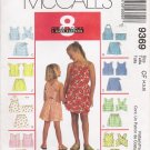Children's & Girls' Tops Shorts Skort Sewing Pattern Size 4-6 McCall's 9369 UNCUT
