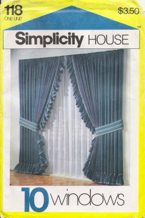 Window Treatments Sewing Instruction Cards Simplicity 118