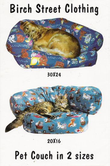 Pet Couch Sewing Pattern by Birch Street Clothing UNCUT