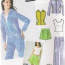 Juniors' Pants Top Jacket Skirt Tote Sewing Pattern 11/12-15/16 Simplicity 4507 UNCUT