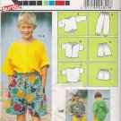 Children's, Boys' & Girls' T-Shirt Shorts Pants Sewing Pattern Size 4-10 Burda 4829 UNCUT
