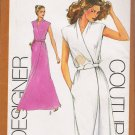 Vintage Sewing Pattern Misses' Mock-Wrap Dress Size 10 Simplicity 9518 UNCUT