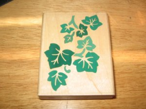 Ivy Leaves Wood Mounted Rubber Stamp by Rubber Stampede
