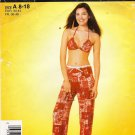Misses' Two Piece Bathing Suit & Pants Sewing Pattern Size 8-18 Simplicity 5014 UNCUT