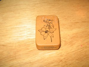Wildflowers Wood Mounted Rubber Stamp by Comotion
