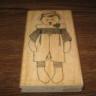 Sailor Teddy Bear Wood Mounted Rubber Stamp by Effie Glitzfinger