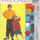 Children's & Boys' Shirt T-Shirt Pants Shorts Hat Sewing Pattern Size 7-10 McCall's 9206 UNCUT