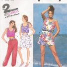 Misses' Pants Shorts Tank Top Sewing Pattern Size PT-LG Simplicity 7247 UNCUT