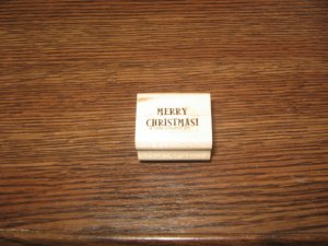 Merry Christmas Wood Mounted Rubber Stamp by Stampin Up