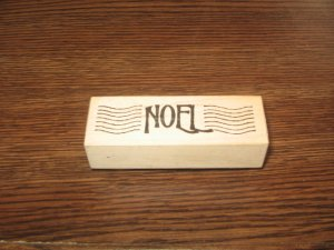 Noel Wood Mounted Rubber Stamp by Stampa Rosa
