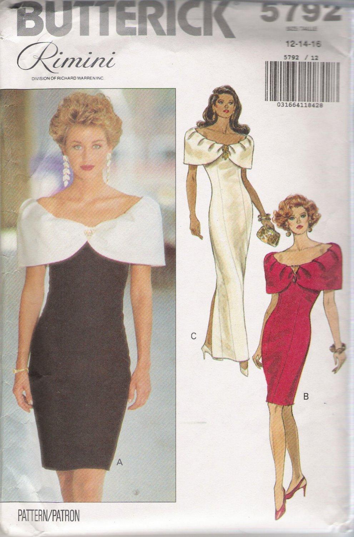 Misses' Dress Sewing Pattern Size 12-16 Butterick 5792 UNCUT