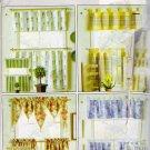 Reversible Window Treatments Sewing Pattern Butterick H558 UNCUT
