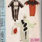 Vintage Sewing Pattern Girls' or Boys' Halloween Costumes & Treat Bag Size 2-4 McCall's 9401 UNCUT
