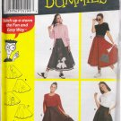 Teens' Circle Skirt & Appliqués Sewing Pattern Waist Size 23-37 Simplicity 9926 UNCUT