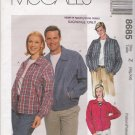 Misses' & Men's Unlined Jacket Sewing Pattern Size XL-XXL McCall's 8685 UNCUT