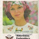 Vintage Bicentennial Americana Embroidery Transfers Pattern Butterick 4308 UNCUT