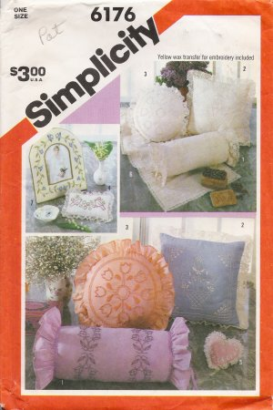 Vintage Candlewicking Embroidery Transfers Pattern Simplicity 6176 UNCUT