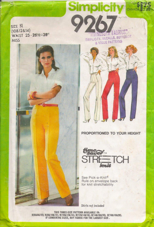 Vintage Sewing Pattern Misses' Proportioned Pants Size 10-14 Simplicity 9267 UNCUT