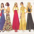 Vintage Sewing Pattern Misses' Halter Dress Size 8 Simplicity 5349 UNCUT