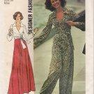 Vintage Sewing Pattern Misses' Front-Wrap Top, Skirt & Wide-Leg Pants Size 12 Simplicity 6659 UNCUT
