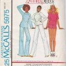 Vintage Sewing Pattern Misses' Top Pants Shorts Size 14-16 McCall's 5975 UNCUT