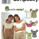 Misses' Top Sewing Pattern Size 6-12 Simplicity 9137 UNCUT
