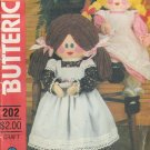 Vintage Sewing Pattern Doll & Clothes Butterick 202 UNCUT