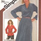 Vintage Sewing Pattern Misses' Pullover Dress Or Top Size 14-18 Simplicity 9813 UNCUT
