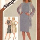 Vintage Sewing Pattern Misses' Dress & Unlined Coat Size 16 Simplicity 9910 UNCUT