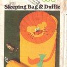 Vintage Sewing Pattern Children's Sleeping Bag & Duffle Bag Butterick 5161 UNCUT