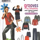 Juniors' Jacket Pants Skirt Bag Top Sewing Pattern 7/8-15/16 Simplicity 9392 UNCUT
