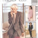 Misses' Jacket Top Pants Sewing Pattern Size 18 McCall's 9023 UNCUT