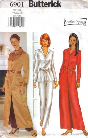 Misses' Top Dress Pants Belt Sewing Pattern Size 12-16 Butterick 6901 UNCUT
