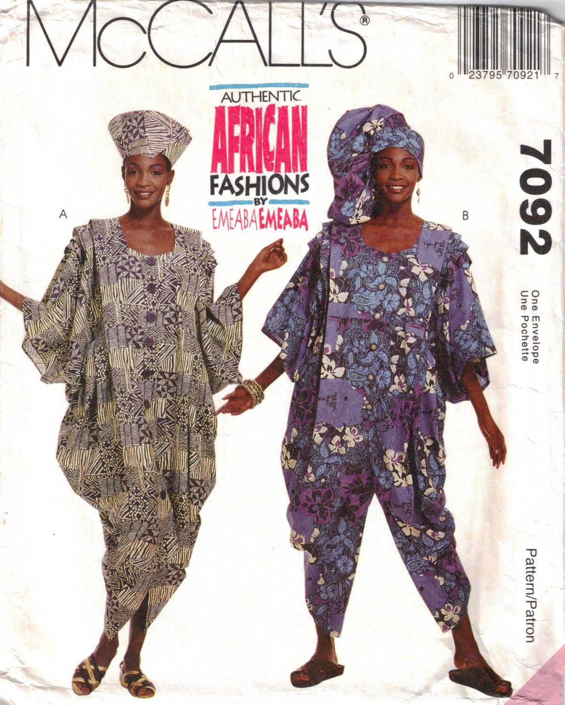 Misses' Dress & Jumpsuit Sewing Pattern Size 6-22 McCall's 7092 UNCUT