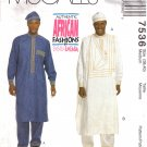Men's Tunics, Drawstring Pants & Hat Sewing Pattern Size 38-40 McCall's 7536 UNCUT