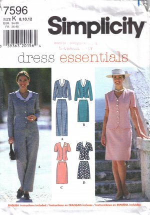 Misses' Top Pants Skirt Shorts Sewing Pattern Size 8-12 Simplicity 7596 UNCUT