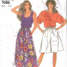Misses' Pullover Tops & Culottes Sewing Pattern Size 8-20 Simplicity 7096 UNCUT