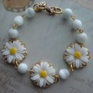 Daisy Charm Bracelet, Handmade Jewelry, Queens Royal Coach