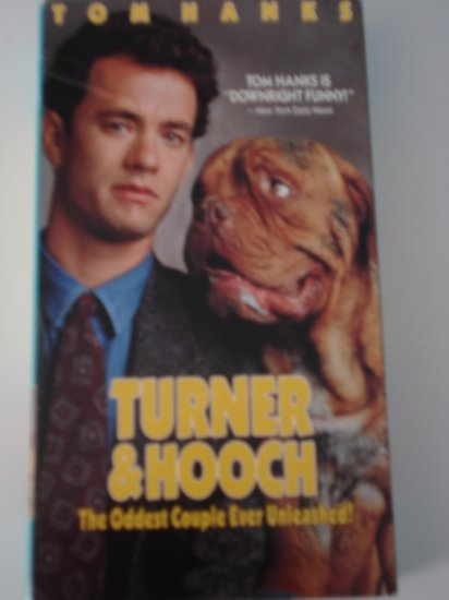 Vhs Tape Movie Turner & Hooch With Tom Hanks Comedy
