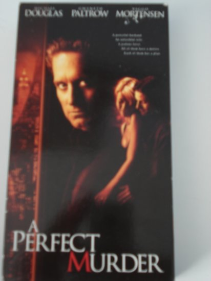 A Perfect Murder Vhs Tape Movie Michael Douglas Gwyneth Paltrow Viggo Mortensen Drama Suspense