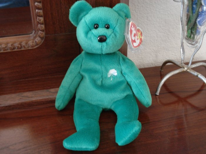 TY Beanie Babies Erin The Retired Green Irish Bear Collector's Item Or Toy NWT