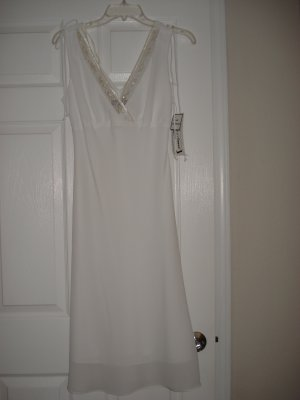 Women's Juniors Clothes Sleeveless White Dress Size 9/10 New