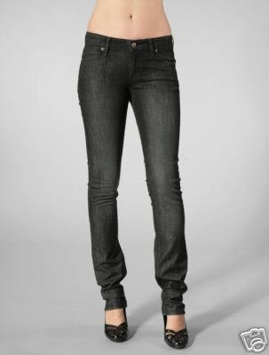 New Auth Rich and Skinny Blackie Coated Sleek Jean 29