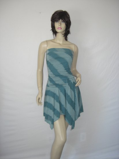 New Celeb Asymmetrical Stripe Tube Scarf alana Dress L Large