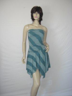 New Celeb Asymmetrical Stripe Tube Scarf alana Dress L Large